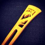「本つげ 竹笹の簪」